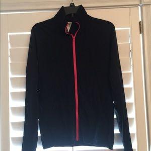 Fabletics Zip Up Jacket black neon red sz M